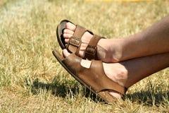 известные sandles Стоковое Изображение