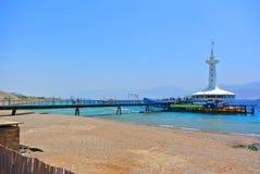 Известный аквариум Eilat на берегах Красного Моря Израиль Стоковые Изображения