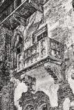 Известный балкон Romeo и Juliet Стоковые Фотографии RF