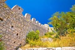 Известный взгляд стены острова Hvar Стоковые Фото