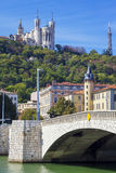 Известный взгляд Lyon Стоковые Фотографии RF