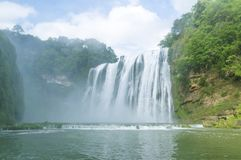 известный водопад Гуйчжоу Huangguoshu Стоковая Фотография RF