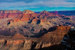 Известный во всем мире национальный парк гранд-каньона, Аризона Стоковые Изображения RF