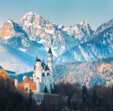 Известный замок Нойшванштайна в Германии Стоковое Фото