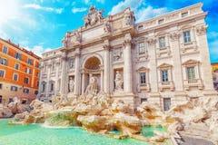 Известный и один самого красивого фонтана Рима - Trevi f Стоковые Фото