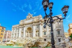 Известный и один самого красивого фонтана Рима - Trevi Fo Стоковое Изображение