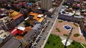 Известный квадрат Европы и яркие крыши Батуми антенна Georgia, городского пейзажа стоковая фотография rf