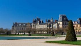 Известный королевский замок Фонтенбло, Франция стоковое изображение