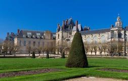 Известный королевский замок Фонтенбло, Франция стоковые изображения
