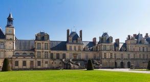 Известный королевский замок Фонтенбло, Франция стоковая фотография