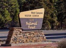 Известный красный каньон в Юте - КРАСНЫЙ КАНЬОН - ЮТА - 24-ое октября 2017 стоковое изображение rf