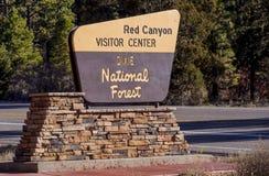 Известный красный каньон в Юте - КРАСНЫЙ КАНЬОН - ЮТА - 24-ое октября 2017 стоковые изображения rf