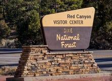 Известный красный каньон в Юте - КРАСНЫЙ КАНЬОН - ЮТА - 24-ое октября 2017 стоковое фото rf