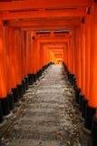 Известный красный тоннель в Киото Стоковое Изображение RF