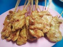 Известный меню еды улицы Таиланда Стоковые Фотографии RF