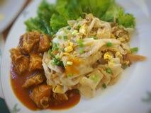 Известный меню еды улицы Таиланда Стоковое фото RF