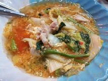 Известный меню еды улицы Таиланда Стоковая Фотография