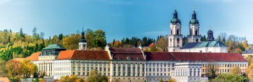 Известный монастырь St Florian около Линца стоковое изображение