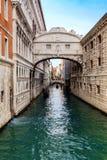 Известный мост вздохов, Венеция, Италия Стоковое Фото