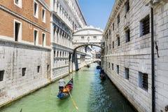 Известный мост вздохов в Венеции, Италии Стоковые Фотографии RF