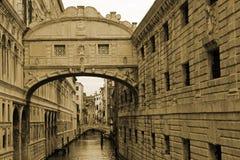 Известный мост вздохов в Венеции Стоковое Изображение RF