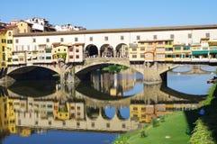 Известный мост в Флоренсе Стоковые Изображения