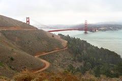 Известный мост золотого строба в Сан-Франциско, США Стоковые Изображения RF