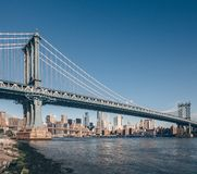 Известный мост Манхаттана стоковое фото
