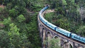 Известный мост 9-свода в Элла, Шри-Ланка сток-видео
