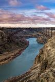 Известный мост Perrine около Twin Falls Айдахо с Рекой Снейк стоковые фотографии rf