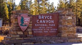 Известный национальный парк каньона Bryce в Юте - КАНЬОНЕ BRYCE - ЮТА - 24-ое октября 2017 стоковые фотографии rf