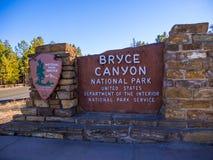 Известный национальный парк каньона Bryce в Юте - КАНЬОНЕ BRYCE - ЮТА - 24-ое октября 2017 стоковая фотография rf