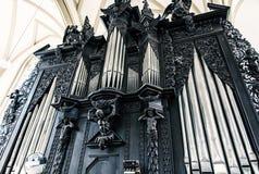 Известный орган трубы в церков St James, Брна Стоковое Изображение
