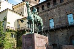 Известный памятник в Турине Стоковое фото RF