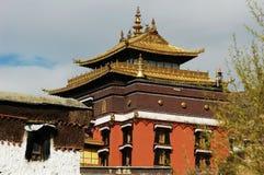 известный пейзаж Тибет lamasery стоковая фотография rf