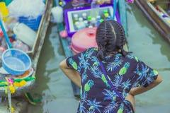 Известный плавая рынок в Amphawa Таиланде, плавая рынке, tou Стоковое Изображение