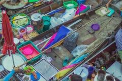 Известный плавая рынок в Amphawa Таиланде, плавая рынке, tou Стоковое Фото