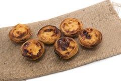 Известный португальский пирог печенья яичка Стоковое фото RF