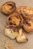 Известный португальский пирог печенья яичка Стоковая Фотография
