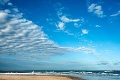 Известный пляж Хосе Ignacio в Уругвае Стоковое Изображение RF