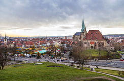 Известный рынок christkindl в Эрфурте, Германии Стоковые Изображения RF