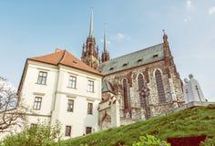 Известный собор St Peter и Пола, Брна, filte фото красоты Стоковые Фотографии RF