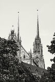 Известный собор St Peter и Пола в Брне, Моравии, чехословакском r Стоковые Фото