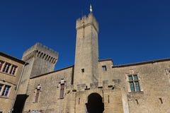 Известный средневековый замок Emperi, салон de Провансаль, Франция стоковые фото