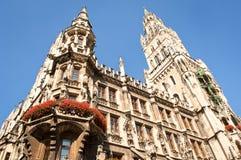 Здание муниципалитет Мюнхен Стоковые Изображения