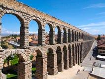 Известный старый мост-водовод в Сеговии, Испании Стоковое Фото
