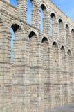 Известный старый мост-водовод в Сеговии, Кастилии y Леоне Стоковое Изображение RF