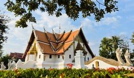 Известный тайский висок в Nan, Таиланде стоковое фото rf