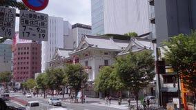 Известный театр Kabuki-za в токио Ginza - ТОКИО/ЯПОНИИ - 12-ое июня 2018 акции видеоматериалы