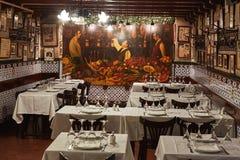 Известный традиционный старый испанский ресторан в Барселоне Испании, его имени Caracol улитка 12 09 Испания 2018 стоковые изображения rf